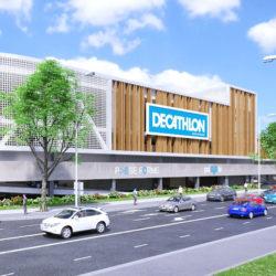 Construction du nouveau Decathlon à Bourg en Bresse